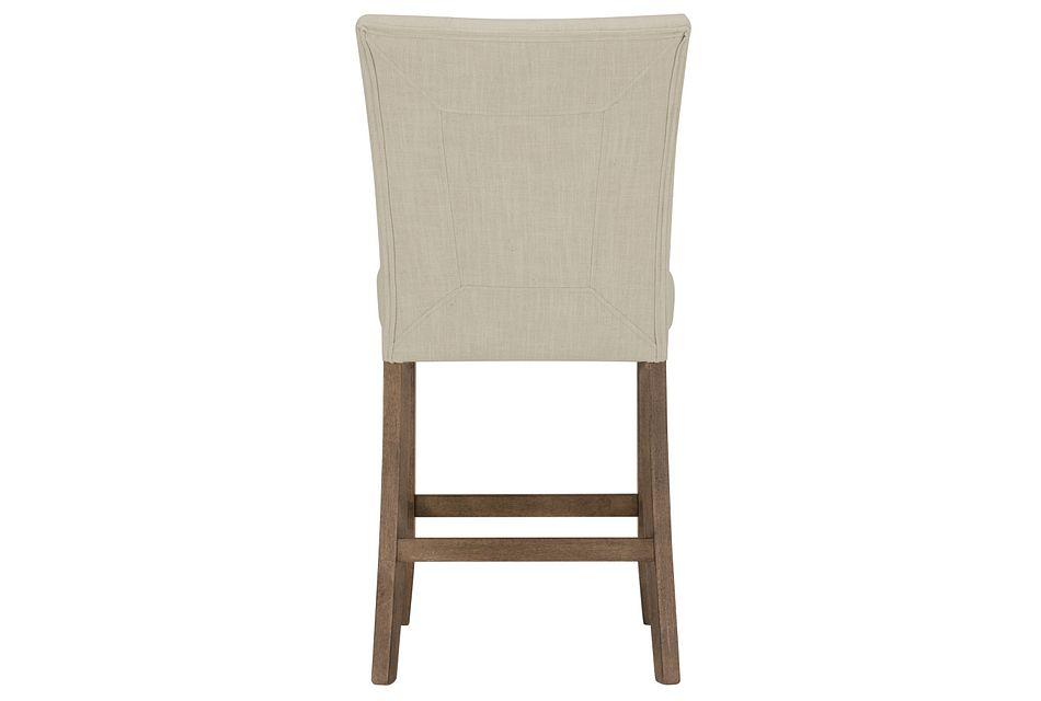 """Emmett White 24"""" Upholstered Barstool"""