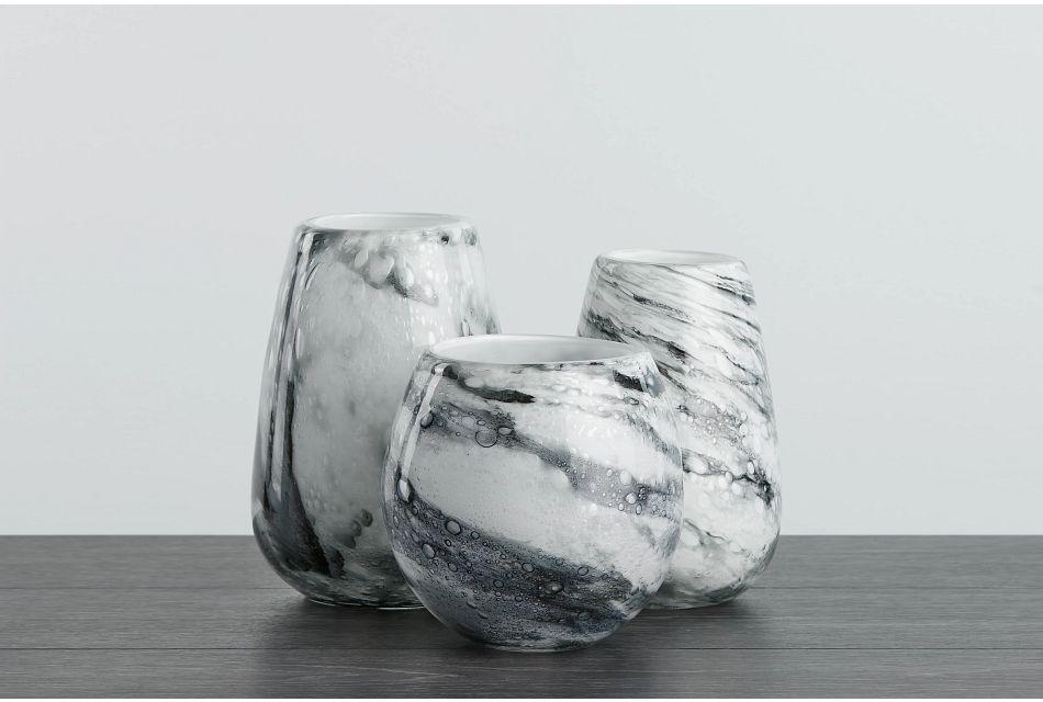 Briela Gray  Vase,  (0)