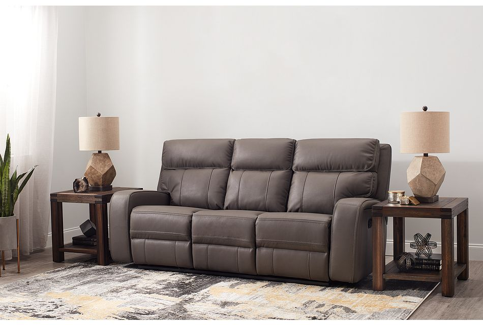 Rhett Gray Micro Reclining Sofa