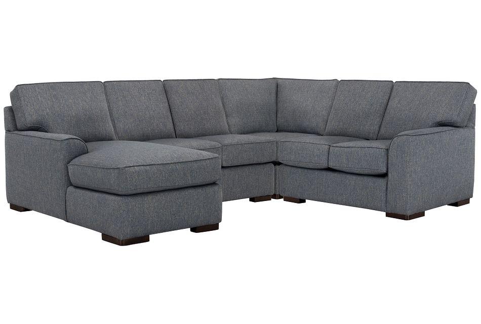 Austin BLUE FABRIC Medium Left Chaise Sectional