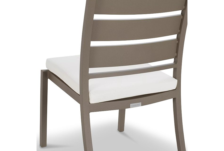 Raleigh Gray Aluminum Side Chair