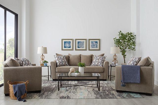 Myra Beige Fabric Chair