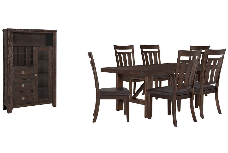 Kona Grove Dark Tone Rect Small Dining Room