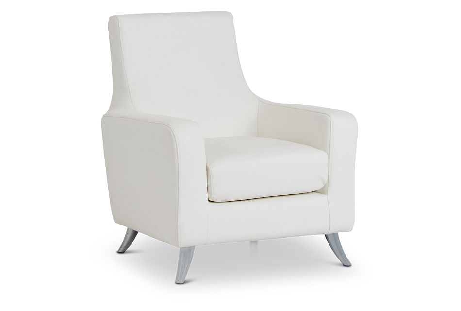 Marquez White Micro Accent Chair,  (1)
