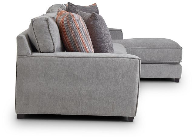 Taylor Gray Fabric Right Chaise Sectional (3)