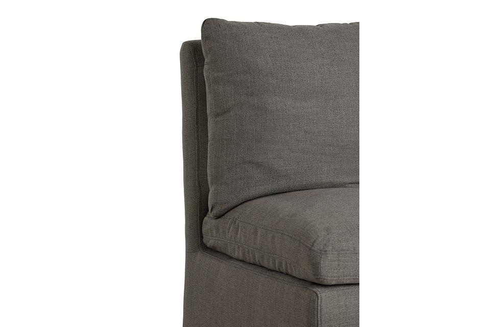 Auden Dark Gray Castored Upholstered Side Chair