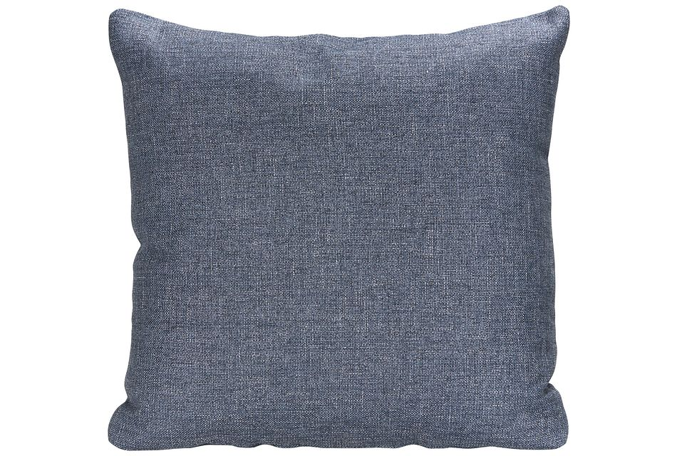 Harper Dark Blue  Fabric Accent Pillow,  (0)