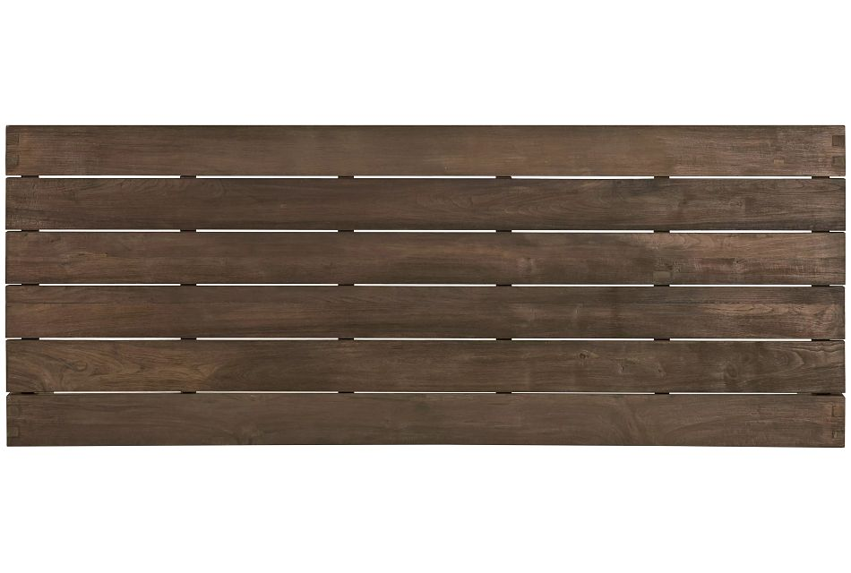 "Linear Teak 102"" Rectangular Table"