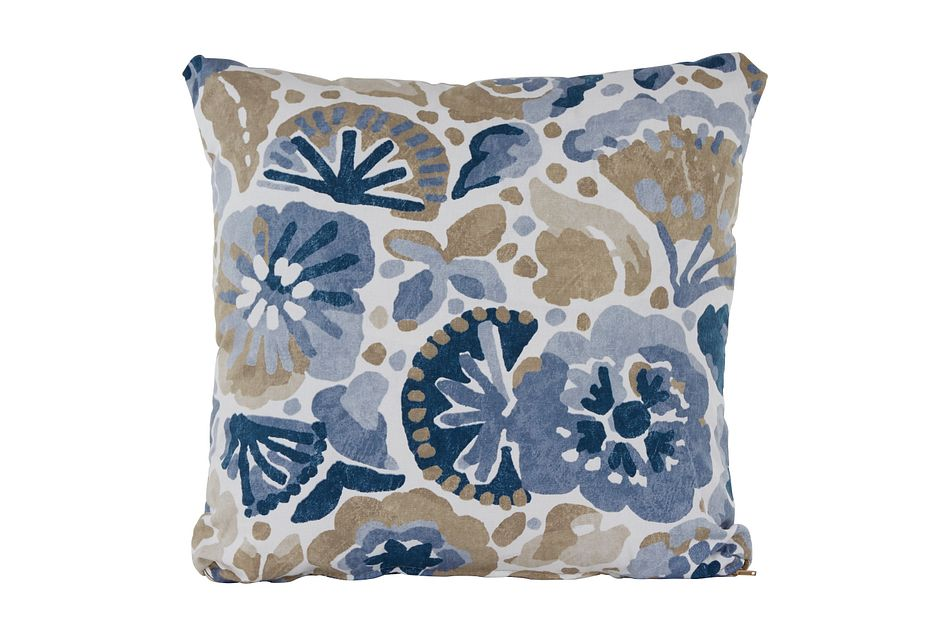 Waterflower Blue Square Accent Pillow