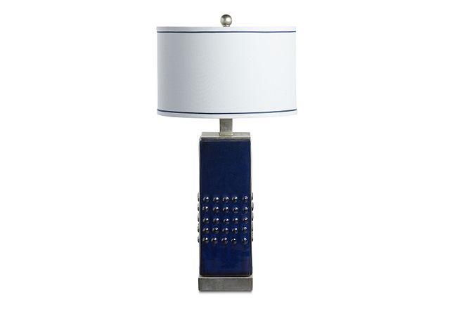 Andrews Dark Blue Table Lamp