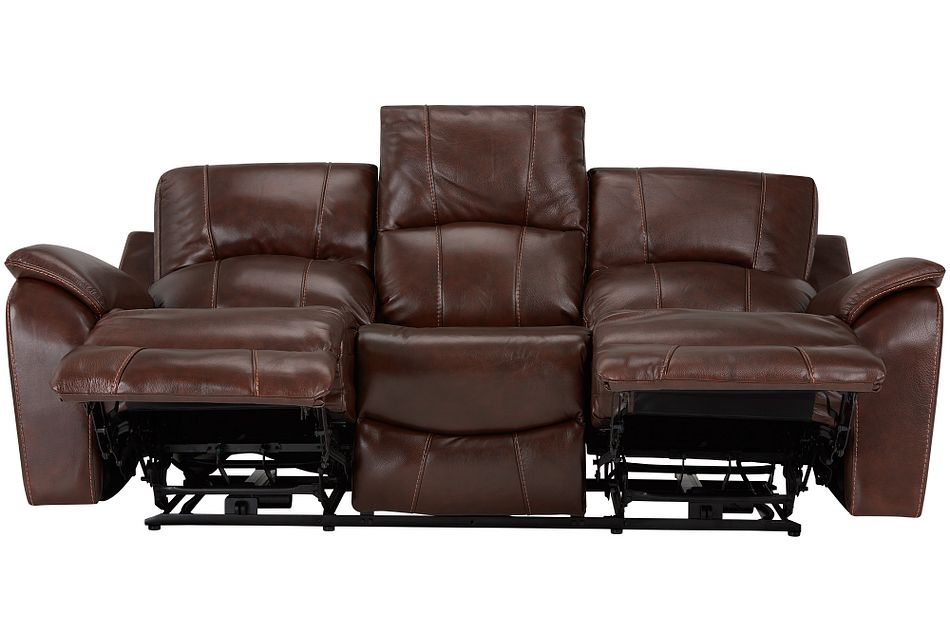 Memphis Medium Brown Lthrvinyl Power Reclining Sofa