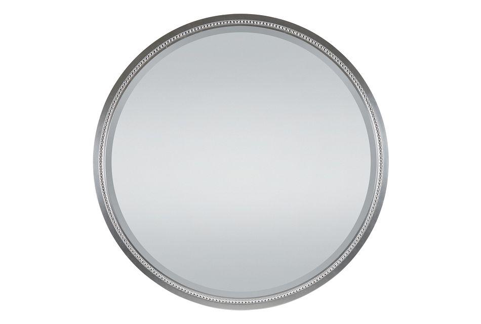 Zodiac Silver Round Mirror
