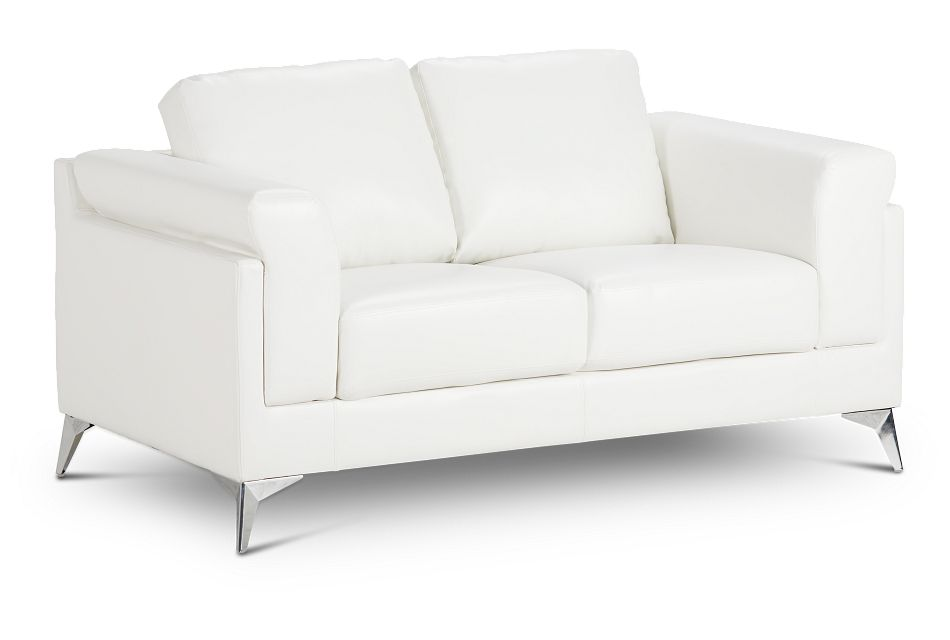 Gianna White Micro Loveseat