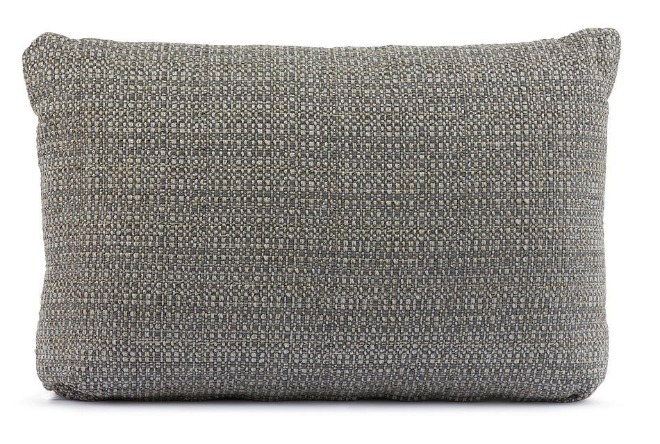 Jackie Gray Lumbar Accent Pillow
