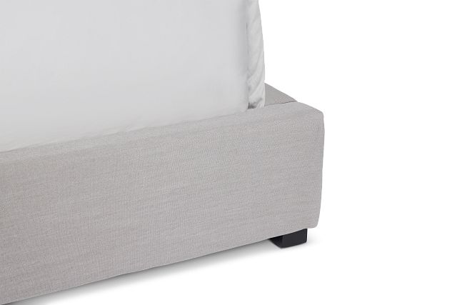 Lacey Gray Uph Platform Bed