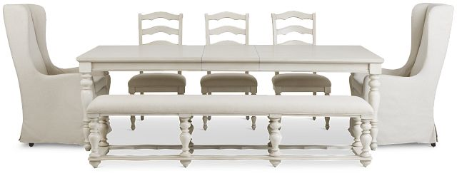 Savannah Ivory Rectangular Table And Mixed Chairs (3)