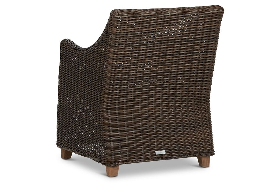 Canyon Dark Brown White Woven Arm Chair