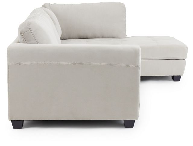 Perry Light Gray Micro Right Chaise Sectional (2)