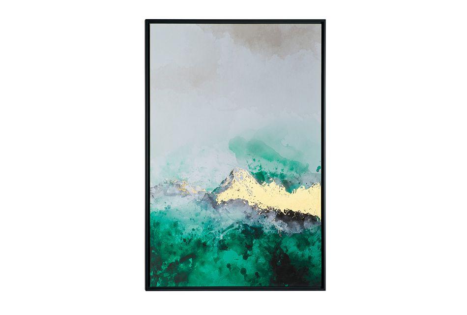Surge Green Framed Wall Art
