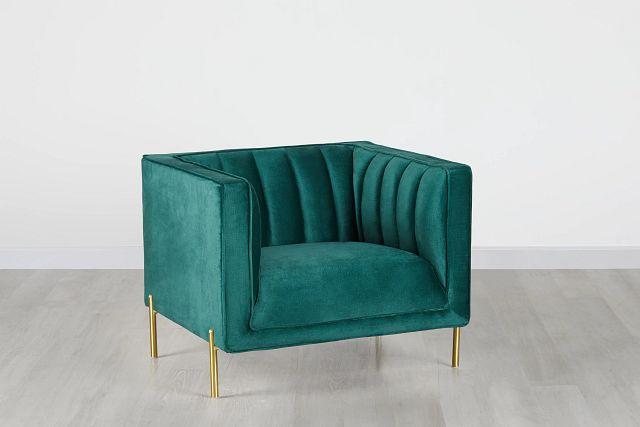 Bella Dark Green Velvet Chair (0)
