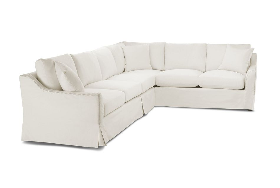 Madelyn Light Beige Fabric Large Two-arm Sectional