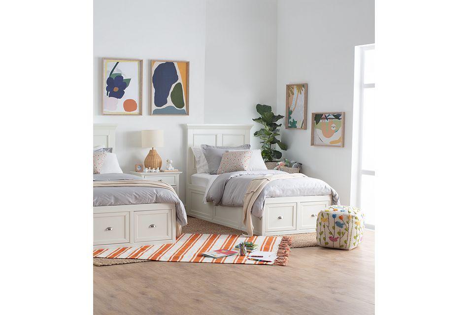 Spencer White 4-drawer Platform Storage Bed