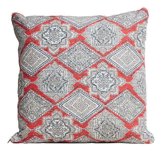 "Milan Coral 20"" Indoor/outdoor Accent Pillow (0)"