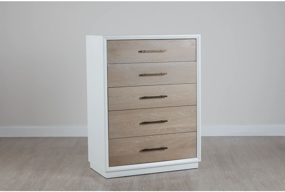 Boca Grande Two-tone   5-drawer Chest, ONE/SIZE