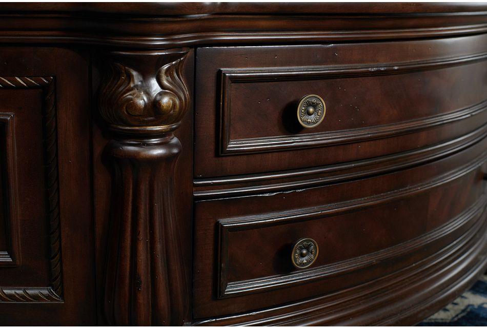 Tradewinds Dark Tone Marble Storage Coffee Table