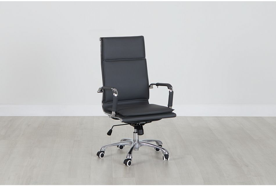 Arvada Gray Uph Desk Chair, %%bed_Size%% (0)