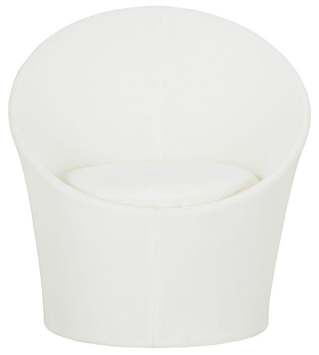 Ibiza White Curved Chair (1)