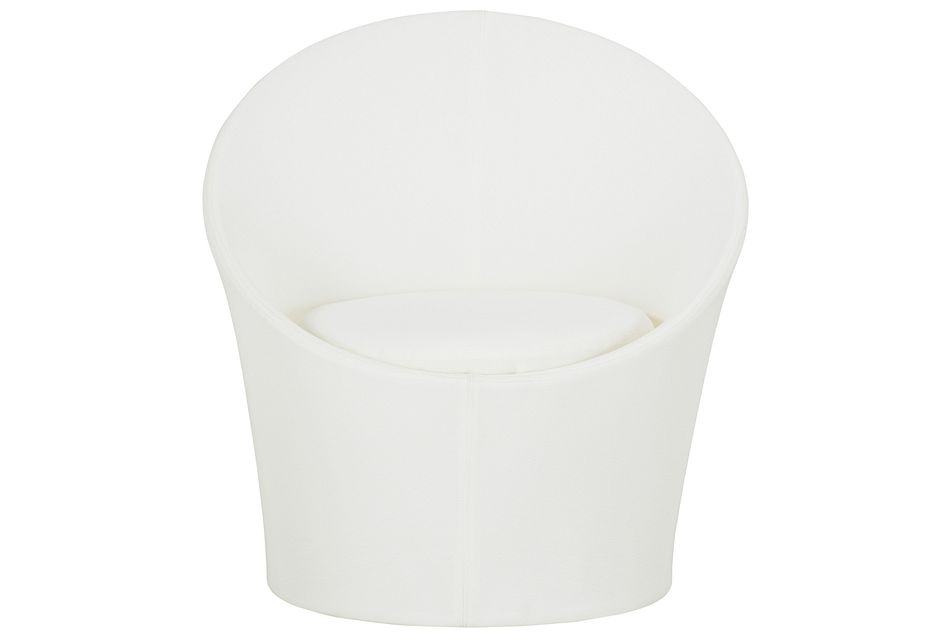 Ibiza White Curved Chair