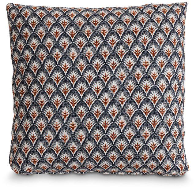 "Morgan Orange Fabric 20"" Accent Pillow (1)"