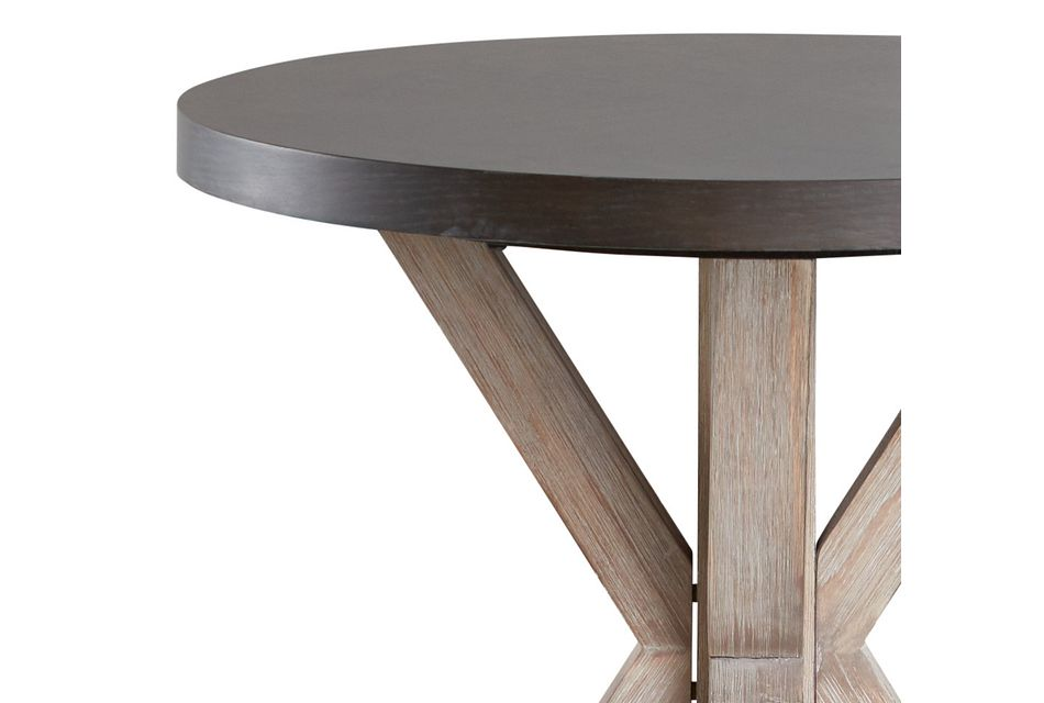 Jefferson Two-tone Round End Table