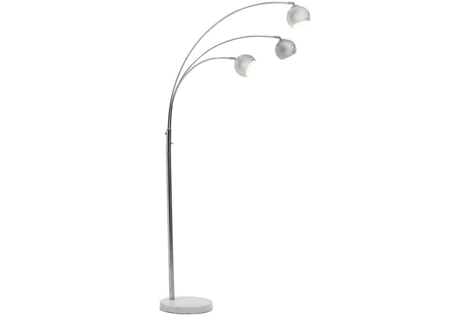 Franci Silver Arc Floor Lamp