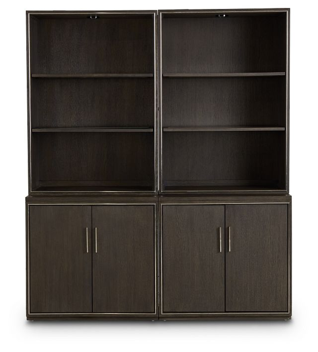 Highline Dark Tone Door Bookcase (1)