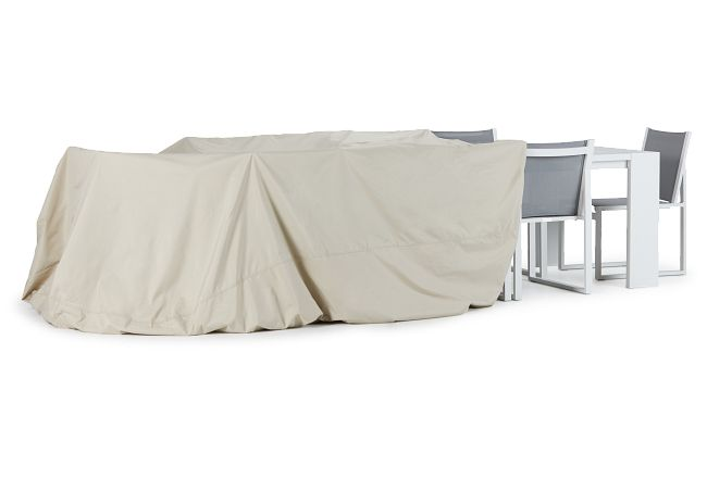 Khaki X-large Table & 4 Chairs Outdoor Cover