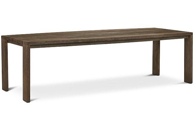 "Linear Teak 102"" Rectangular Table"