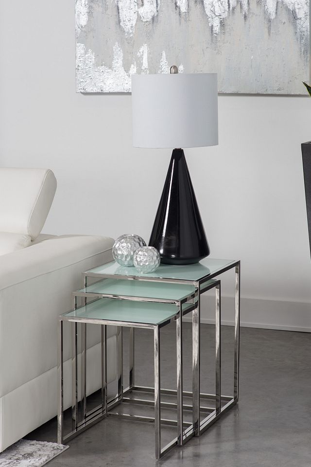 Eve White Glass Nesting End Table (2)