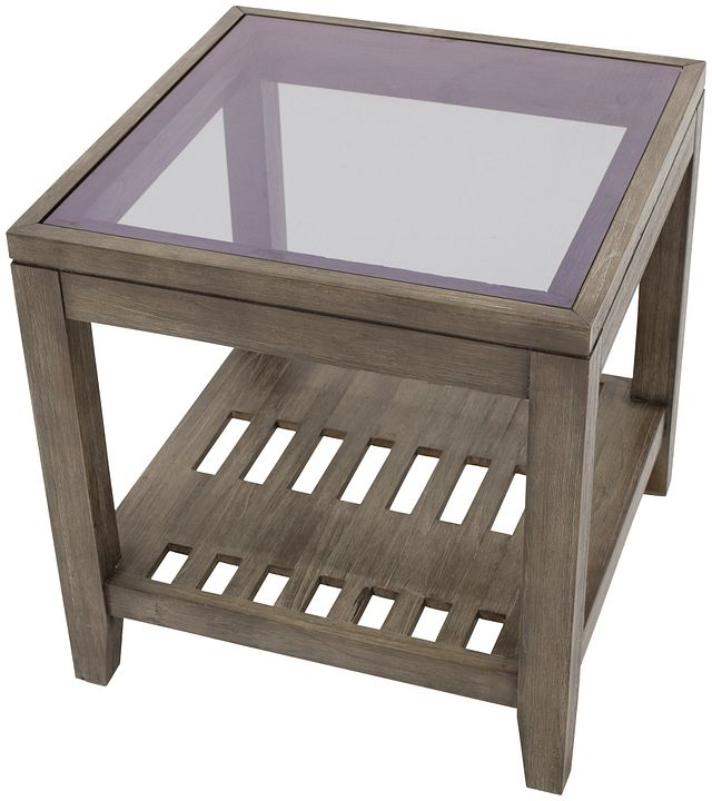Bravo Dark Tone Square End Table (2)