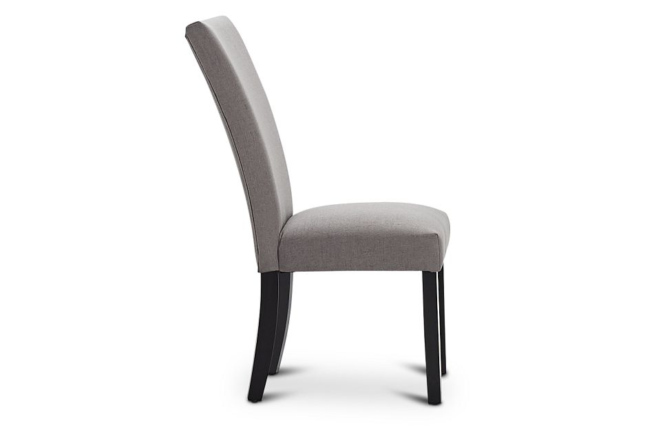 Auburn Dark Gray Fabric Upholstered Side Chair, %%bed_Size%% (2)