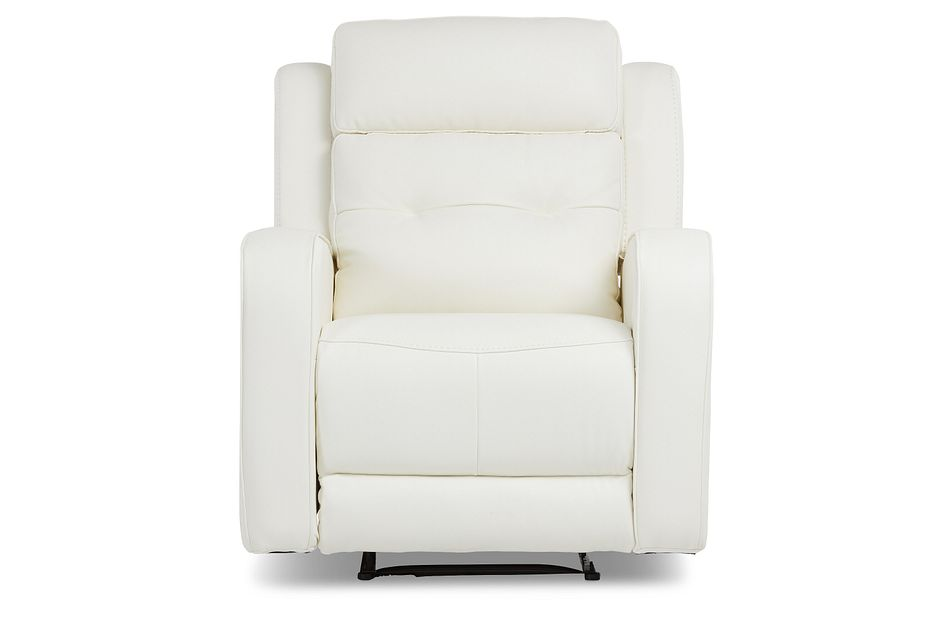 Mccoy White Micro Power Recliner