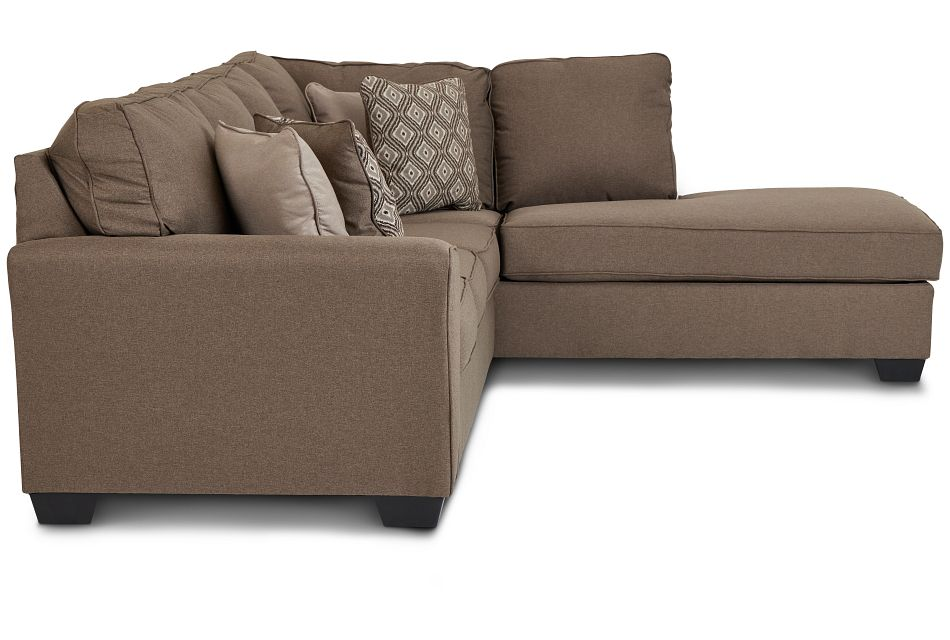 Calicho Dark Taupe Micro Right Chaise Sectional,  (2)
