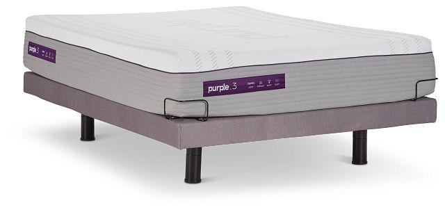 Purple Premier 3 Hybrid Adjustable Mattress Set (1)