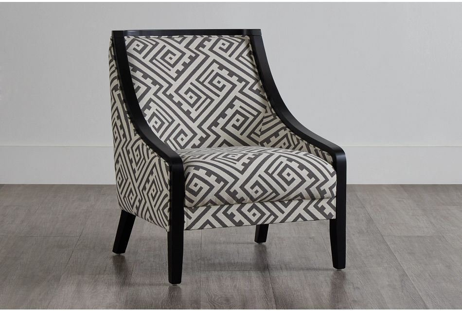 Tribeca2 Multicolored Fabric Accent Chair,  (0)
