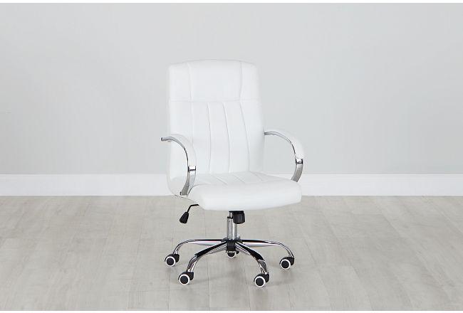 Oakland White Uph Desk Chair