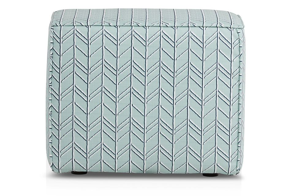 Bogatell Light Blue Geometric Indoor/outdoor Accent Ottoman