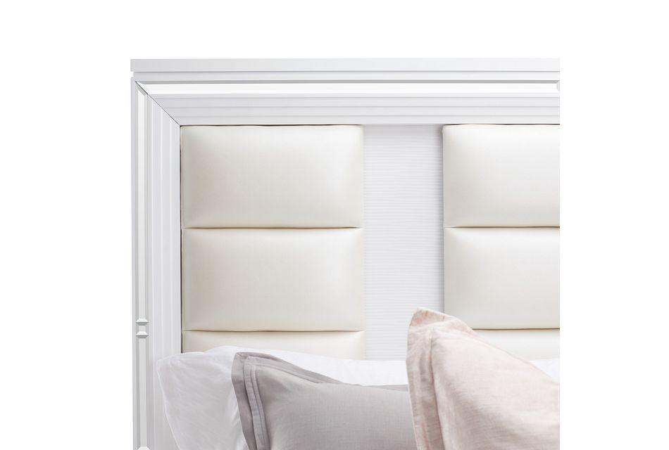 Vegas White Platform Storage Bed