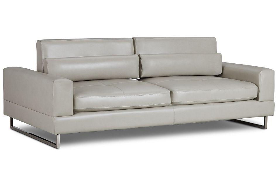 Alec Light Gray Micro Sofa