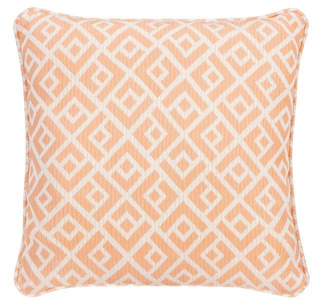 """Chipper Light Orange 18"""" Indoor/outdoor Accent Pillow"""
